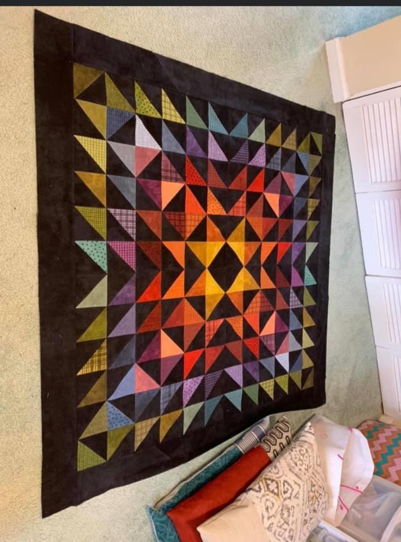 Flannel Half Square Triangle