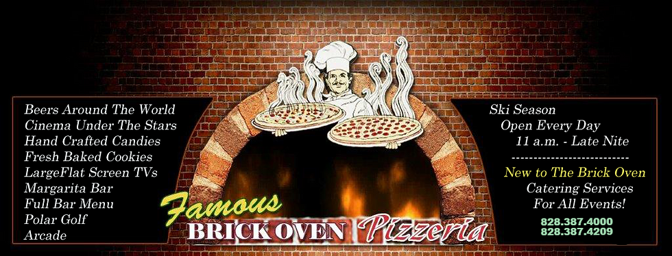 brick oven pizza high atop beech mountain nc