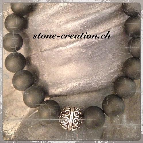 wunderschönes Herrenarmband mit Silberkugel