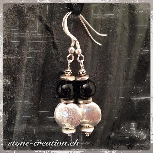 Silber-Ohrring