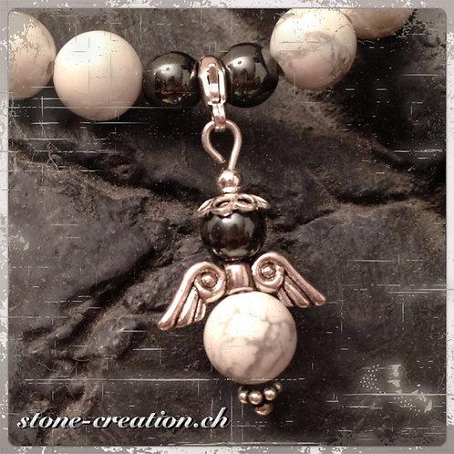Damenarmband aus Edelsteinen mit Schutzengel