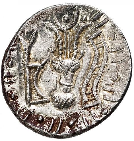 Химьяритское царство, анонимный выпуск, I-II век, Драхма. Серебро