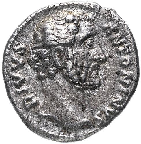 Римская империя, Антонин Пий, 138-161 годы, денарий. (Алтарь, посмертный выпуск)