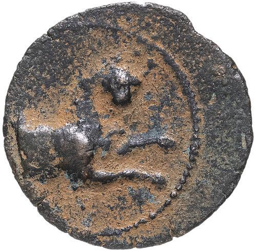 Селевкиды, Антиох VI Дионис Эпифан, 144-142 годы до Р.Х., АЕ18 бронза.(Пантера)