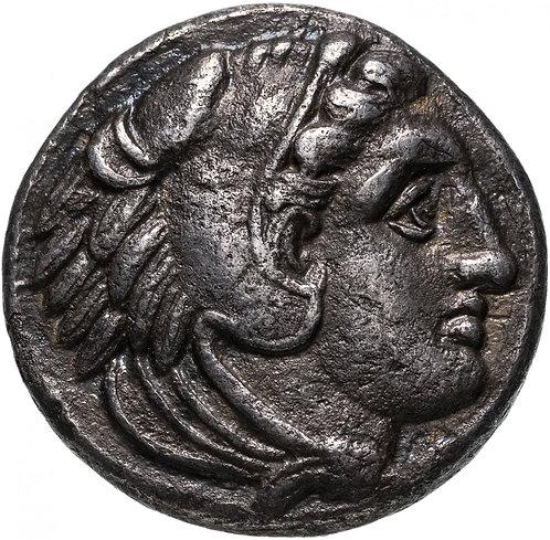 Александр III Великий, 336-323 годы до Р.Х., Тетрадрахма.(Букраний) прижизненный