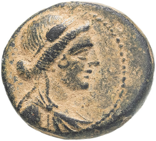 Сирия, Апамея-на-Оронте, квази-автономная чеканка, 21-20 год до Р.Х., Бронза.