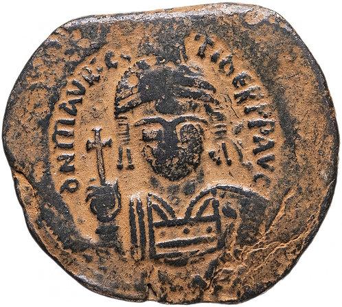 Византийская империя, Маврикий Тиберий, 582-602 годы, фоллис. Maurice Tiberius