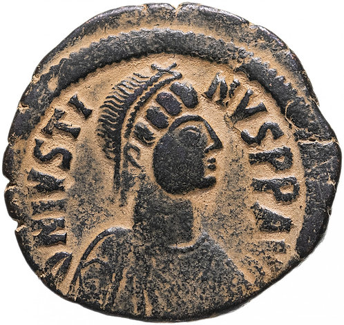 Византийская империя, Юстин I, 518-527 годы, 40 нуммиев (фоллис). Justin
