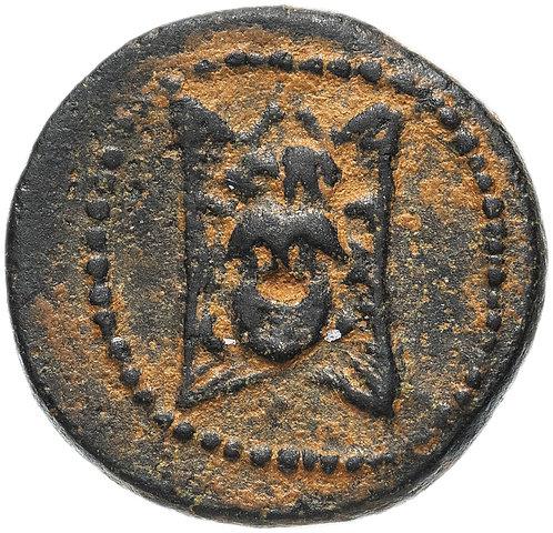 Государство Селевкидов, Александр I Балас, 150-145 годы до Р.Х., бронза AE14.