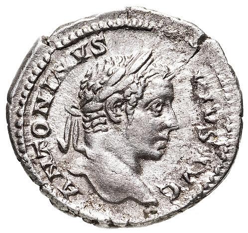 Римская империя, Каракалла, 198-217 годы, Денарий. Caracalla, AR Denarius