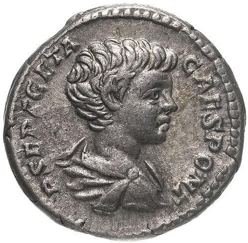 Римская империя, Гета, 209-211 годы, денарий.(Секуритата) персонификация Безопас