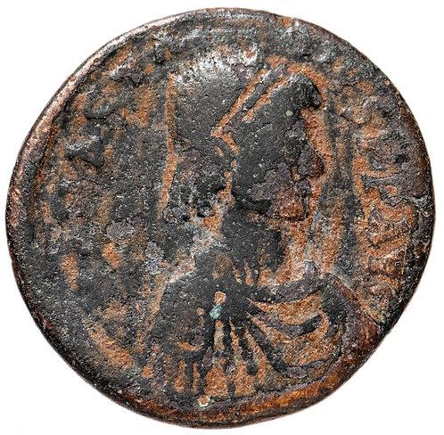 Византийская империя, Анастасий I, 491-518 годы, 1/2 фоллиса.