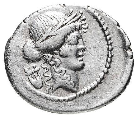 Римская республика, П.Клодий Туррин, 42 год до Р.Х., денарий. Claudius M.f. Turr