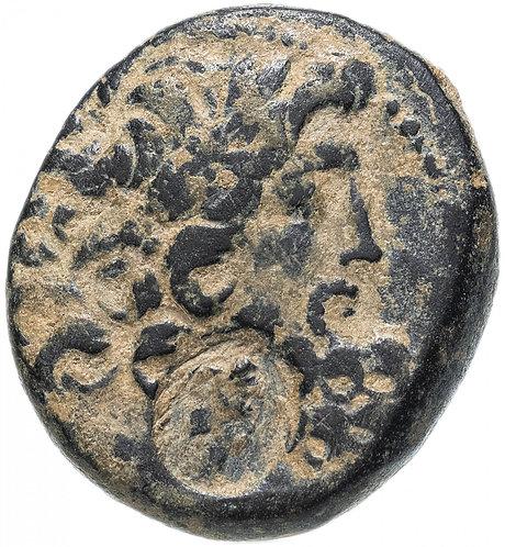 Сирия, Антиохия-на-Оронте, I век до Р.Х., Тетрахалк. (надчеканка Клеопатры VII)