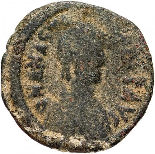 Византийская империя, Анастасий I, 491-518 годы, фоллиса.