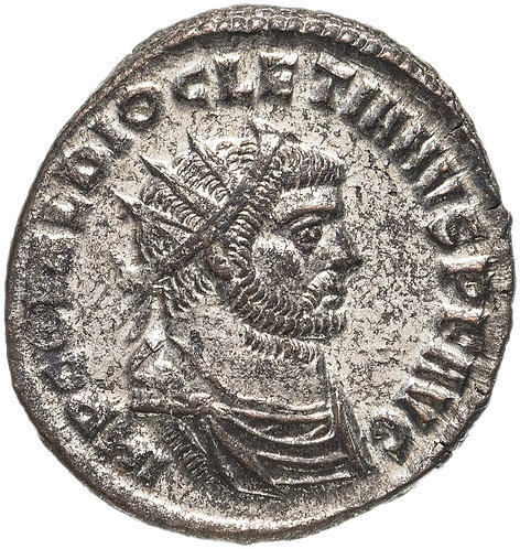 Римская империя, Диоклетиан, 284-305 годы, Аврелианиан (посеребренный). Геракл