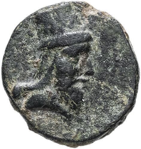 Великая Армения, Тигран V, 6-12 годы, Тетрахалка. Бронза. Tigranes V