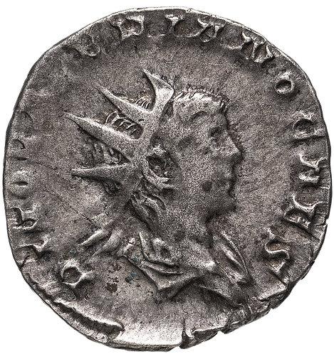 Римская империя, Валериан II, 256-258 годы, Антониниан.(павлин) Divus Valerian I
