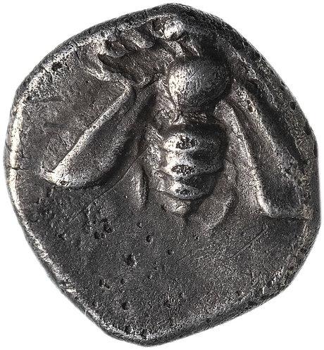 Иония, Эфес, 390-380 годы до Р.Х., тригемиобол.(Олень/Пчела)