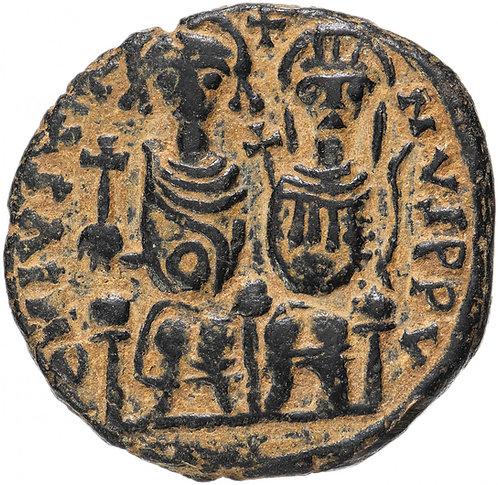 Византийская империя, Юстин II и София, 565-578 годы, фоллис. Justin Sophia