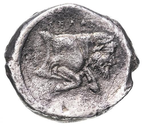 Сицилия, Гела, 480-470 годы до Р.Х., Тетрадрахма. Gela , Sicily. AR Tetradrachm