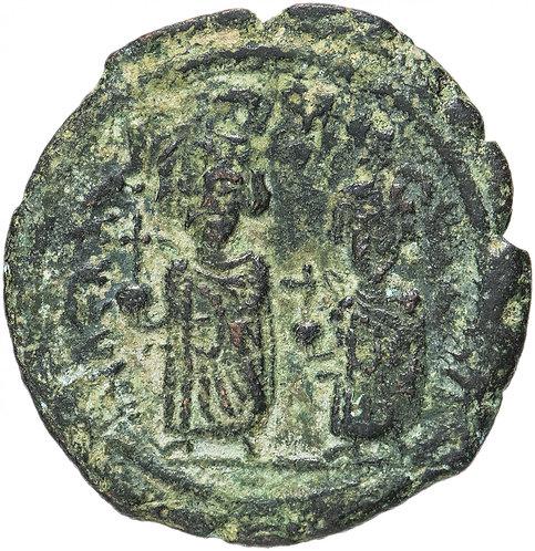 Византийская империя, Ираклий, 610-641 годы, фоллис.