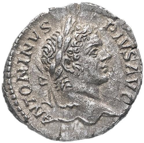 Римская империя, Каракалла, 198-217 годы, денарий.