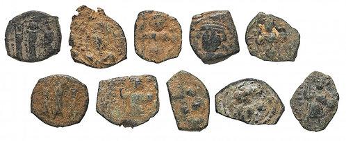10 монет Византийской Империи VII вв (состояние VF) (Бронза)