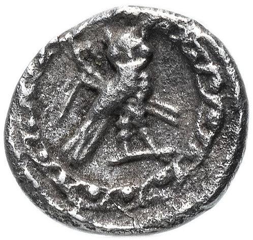 Финикия, г. Тир, 393-311 гг. до н.э., 1/16 шекеля. (Сова,Дельфин) Phoenicia Tyre