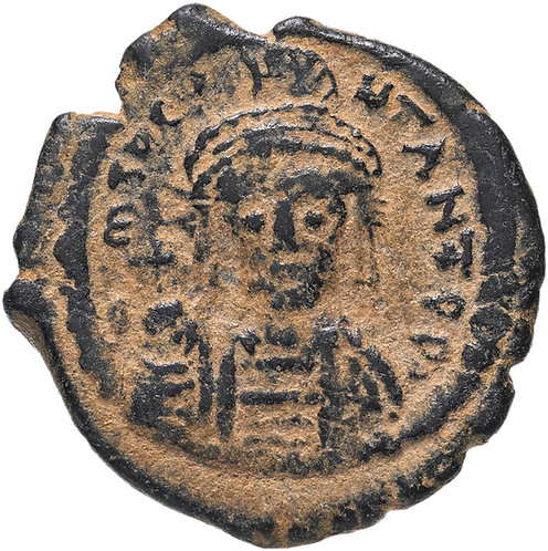 Византийская империя, Тиберий Константин, 578-582 годы, 1/2 фоллиса.