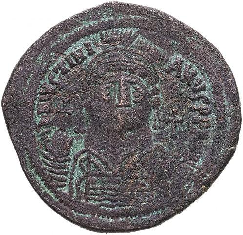 Византийская империя, Юстиниан I, 527-565 годы, 40 нуммиев (фоллис).Justinianus