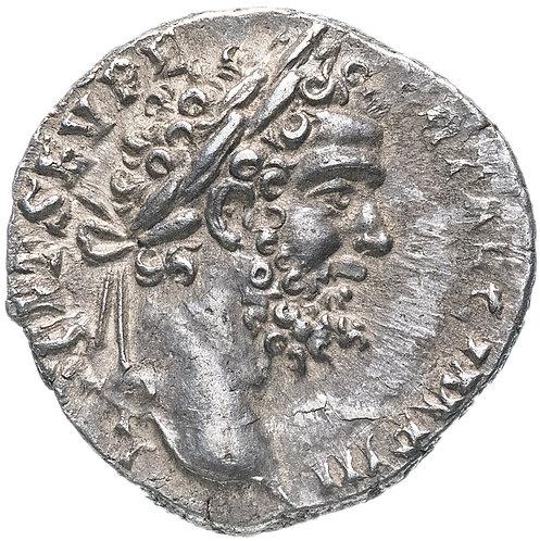 Римская империя, Септимий Север, 193-211 годы, денарий. (Юпитер)