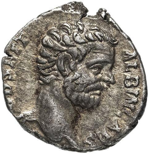 Римская империя, Клодий Альбин, 193-197 годы, Денарий. (Минерва) серебро