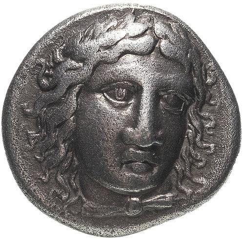 Сатрапы Карии, Мавзол, 377-353 годы до Р.Х., Драхма.(Аполлон) Maussolos