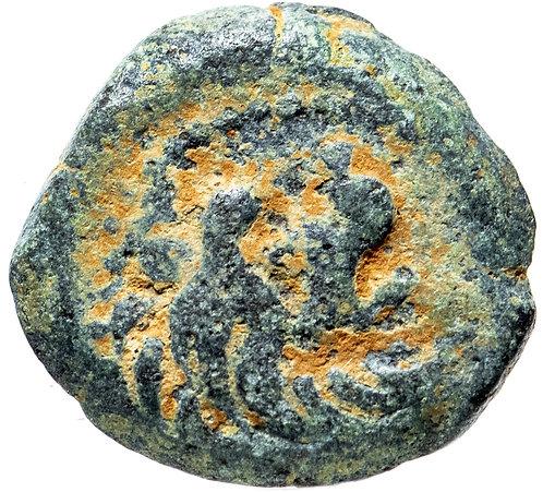 Селевкиды, Антиох VII Сидет, 138-129 годы до Р.Х., AE15. (Лев)
