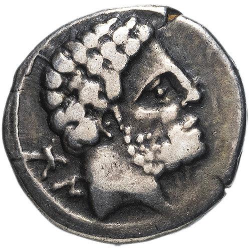 Иберия (Испания), Болскан, 150-100 годы до Р.Х., Денарий. (Серебро)