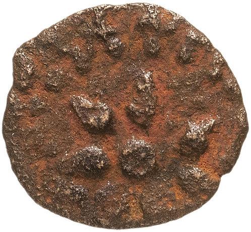 """Иудейское царство, Александр Яннай, 103-76 годы до Р.Х., прута """"лепта вдовы""""."""