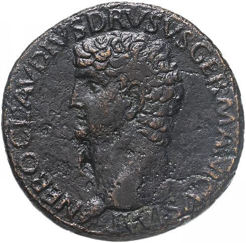 Римская империя, Друз Старший, отец Клавдия, 42-43 Годы, Сестерций.Nero C Drusus
