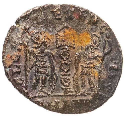 Римская империя, Констанций II, 337-361 годы, нуммий. Constantius II, AE.