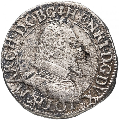 Франция, Генрих II (герцог Лотарингии) (Генрих II Добрый) 1608-1624 гг. , Тестон
