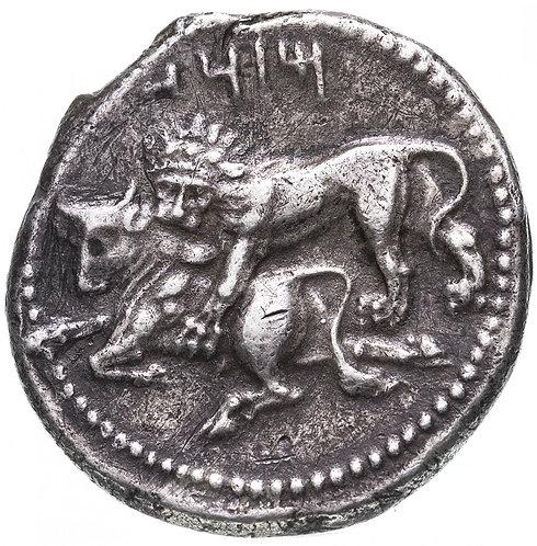 Сатрапы Киликии, Мазай, 361-334 годы до Р.Х., Статер. (Баал/Лев/Бык) Mazaios