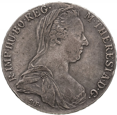 Рестрайк талера Марии Терезии 1780 год. Maria Theresa Thaler, restrike