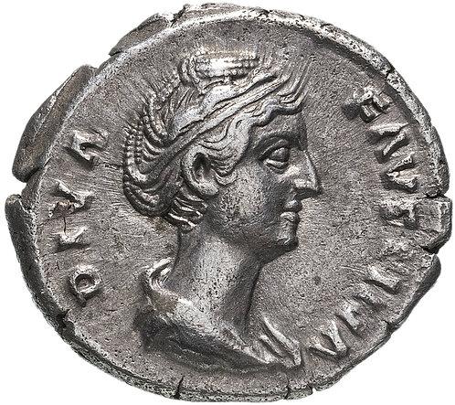 Римская империя, Фаустина Старшая, жена Антонина Пия, Денарий (Серебро) Faustina