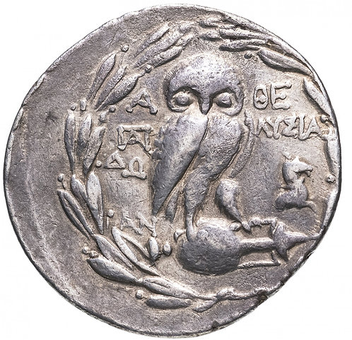 Аттика, Афины, 164-42 годы до Р.Х., Тетрадрахма.(Серебро) Attica, Athens, Tetra