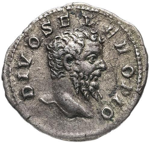Римская империя, Септимий Север, 193-211 годы, денарий.(посмертный выпуск)