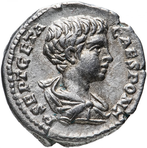 Рим, Гета, 209-211 годы, денарий.(Секуритата) персонификация Безопасности.