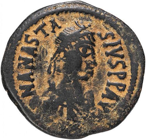 Византийская империя, Анастасий I, 491-518 годы, фоллис.