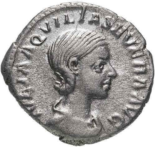 Римская империя, Аквилия Севера, супруга Элагабала, денарий. 220 год (Конкордия)