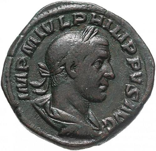 Римская империя, Филипп I Араб, 244-249 годы, Сестерций. (Салюта) Philip I Arab