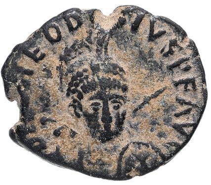 Римская империя, Феодосий I, 379-395 годы, нуммий.